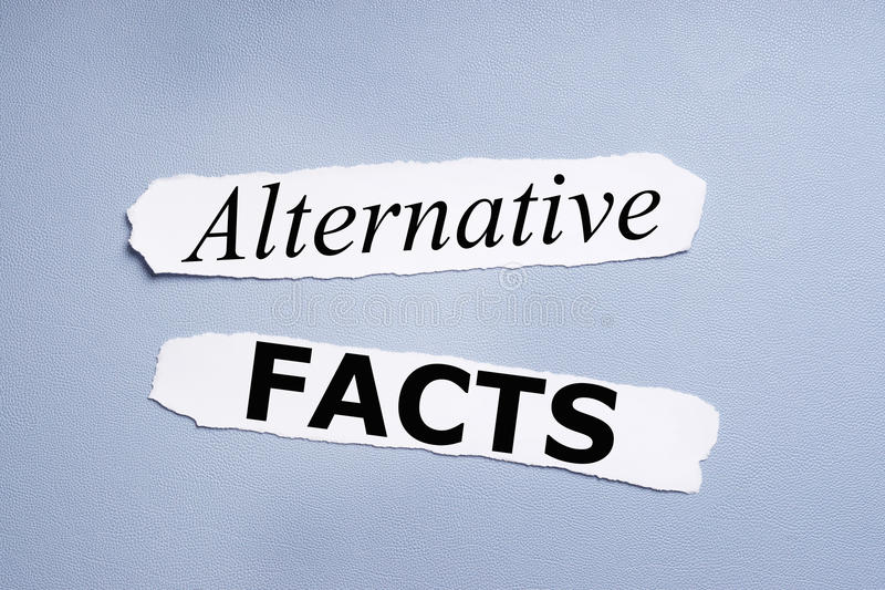 Alternative facts royalty free stock photography