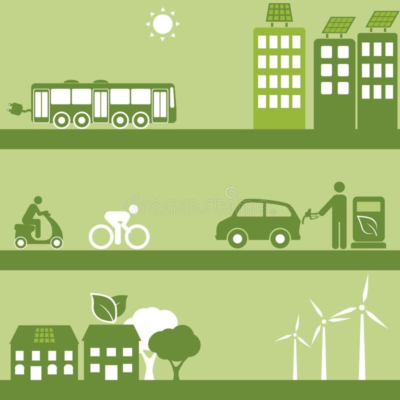 Download Alternative Fuel And Solar Buildings Stock Vector - Image: 33375554