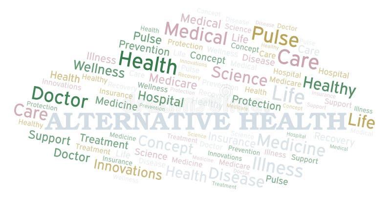 Alternative Gesundheitswortwolke vektor abbildung