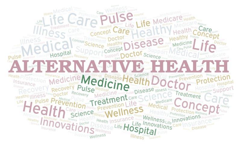 Alternative Gesundheitswortwolke stock abbildung