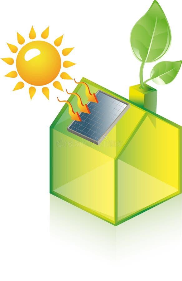 Alternative grüne Energie oder Konzept des grünen Hauses stock abbildung