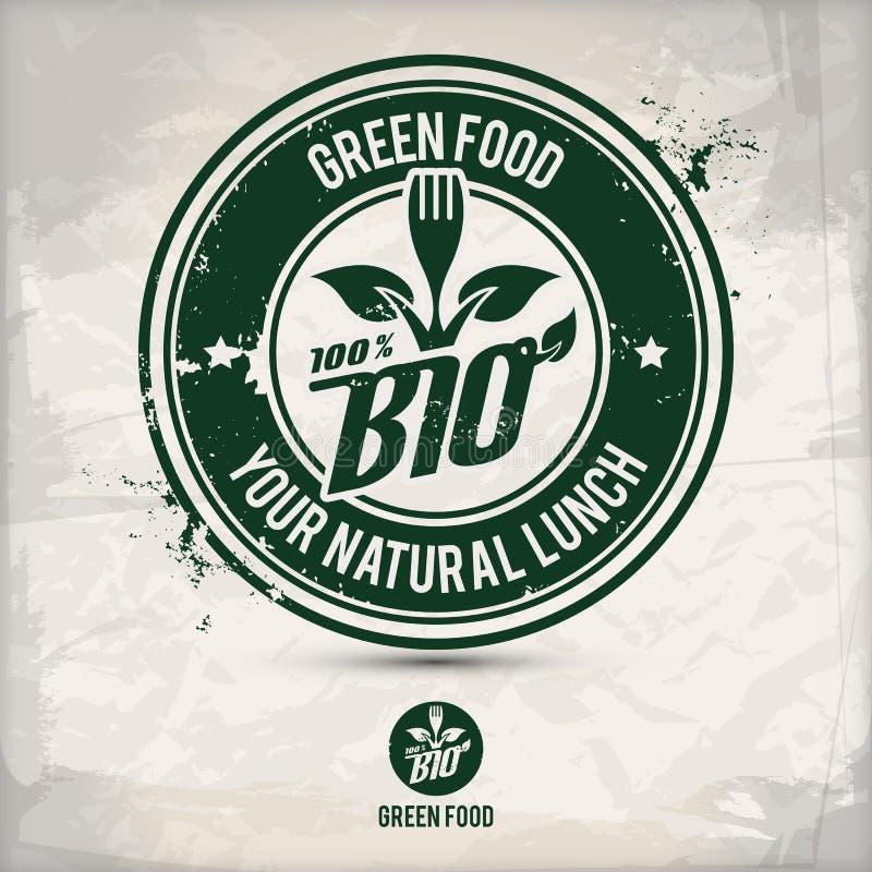 Alternative green food stamp stock illustration
