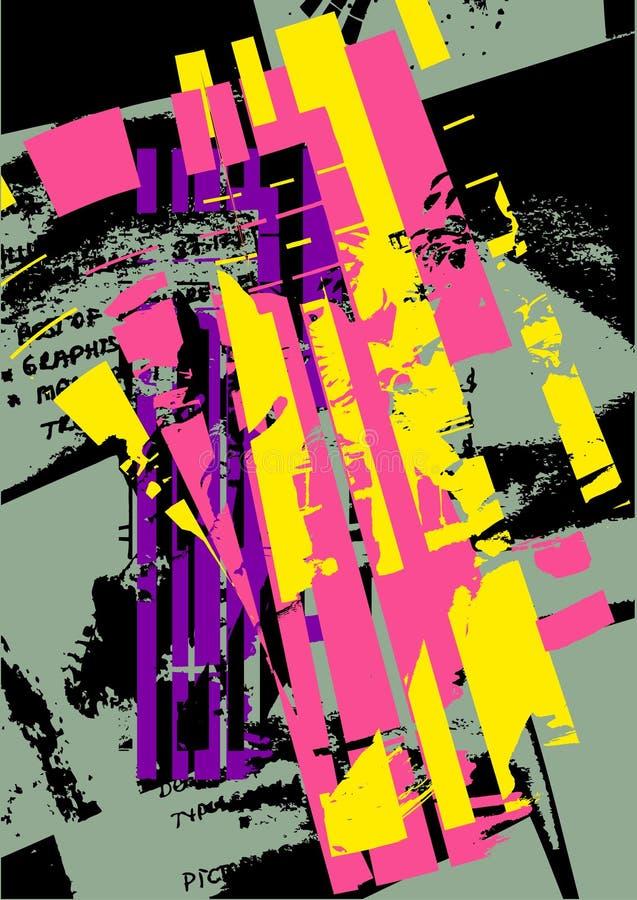 Alternative grunge abstract stock illustration