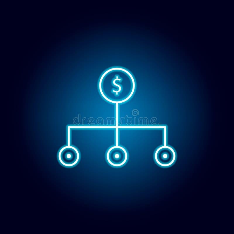 Alternative, ic?ne de flux de liquidit?s ?l?ment d'illustration de diversification d'argent Signes et ic?ne de symboles pour des  illustration stock