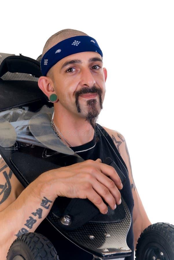 Download Alternative lifestyle stock image. Image of body, bald - 6782817