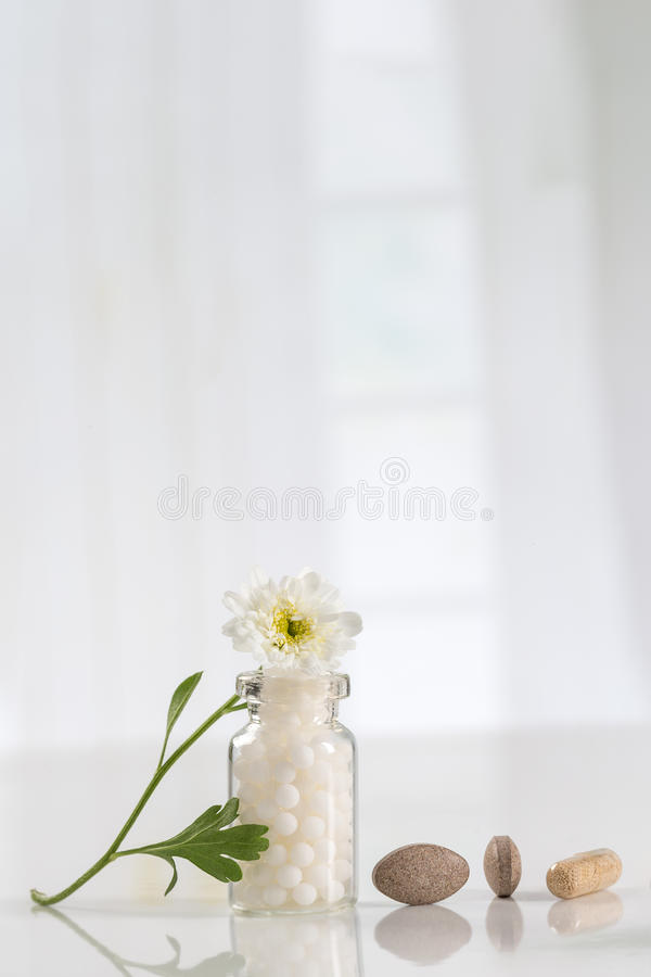 Alternative medicine concept chamomile royalty free stock photo