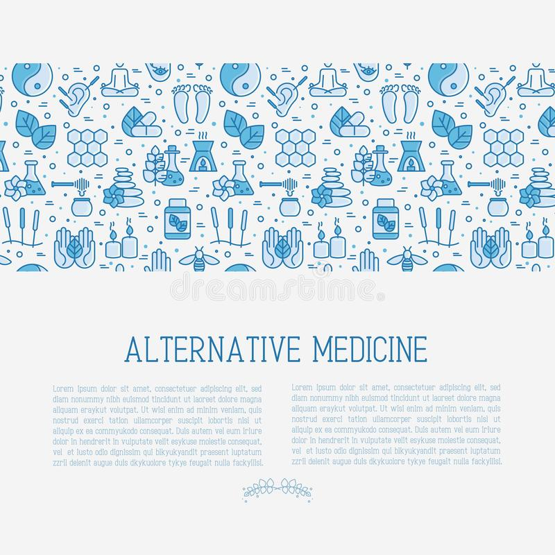 Alternative Medicine Concept With Thin Line Icons Stock Vector Illustration Of Health Aromatherapy 116857388