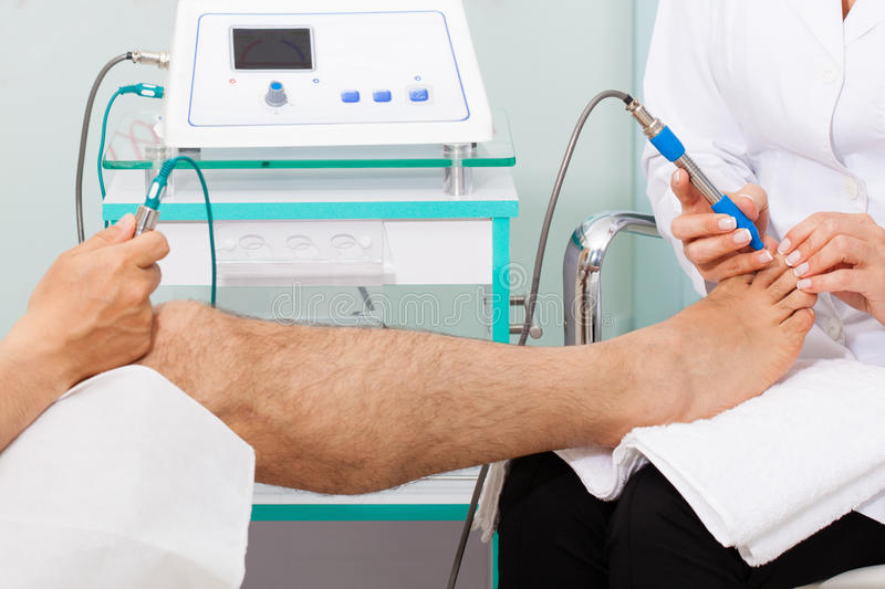 Alternative medicine diagnostic. An Alternative medicine diagnostic equipment royalty free stock image