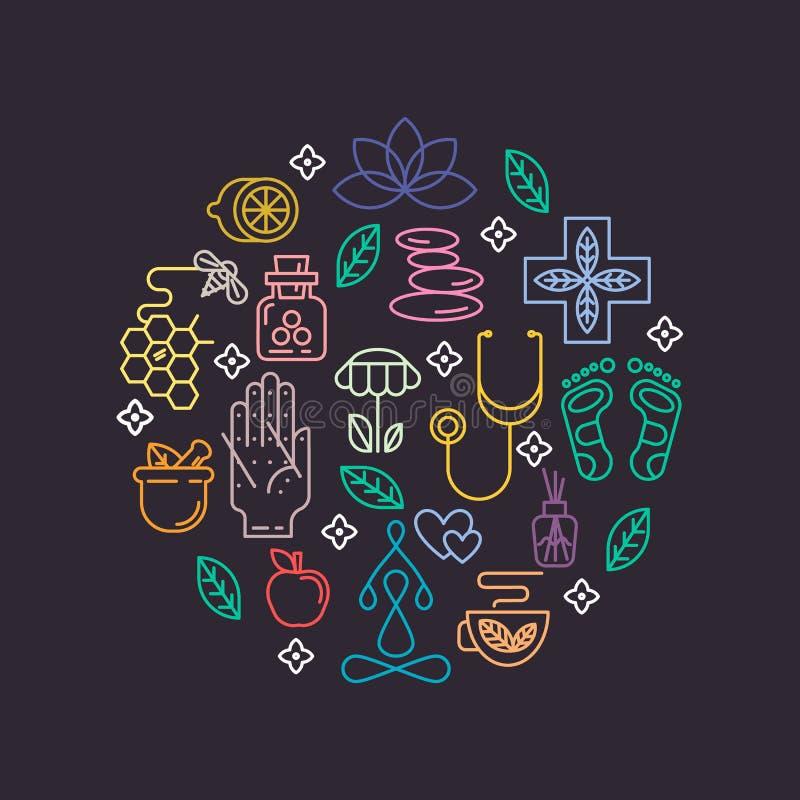 Alternative Medicine icons part 2. royalty free illustration