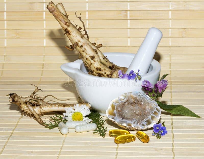 Alternative medicine still life royalty free stock photography