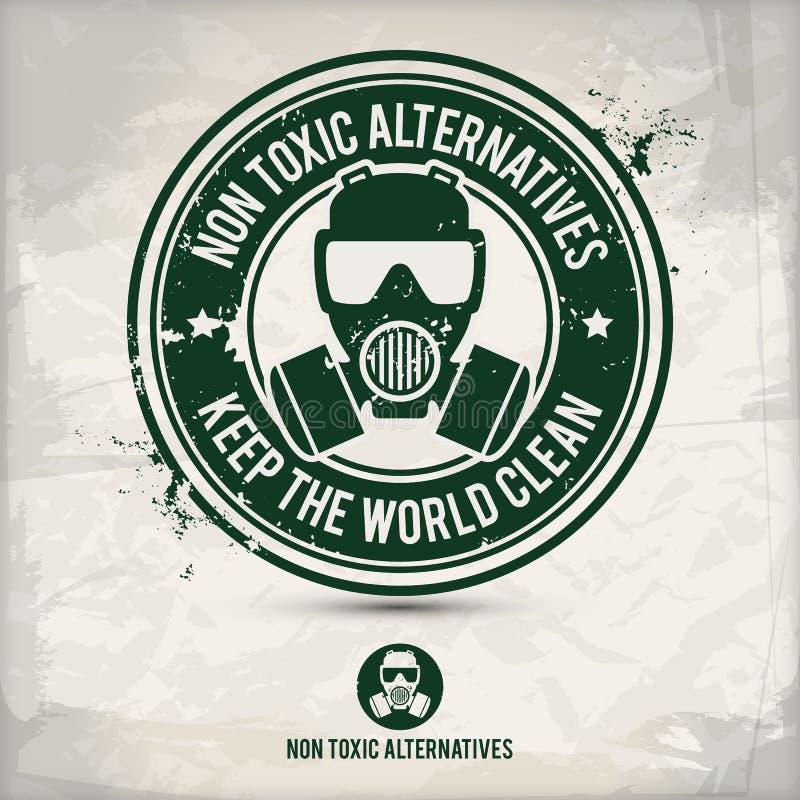 Alternative non toxic alternatives stamp royalty free illustration
