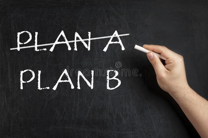 Alternative Plan crossed blackboard chalkboard royalty free stock photo