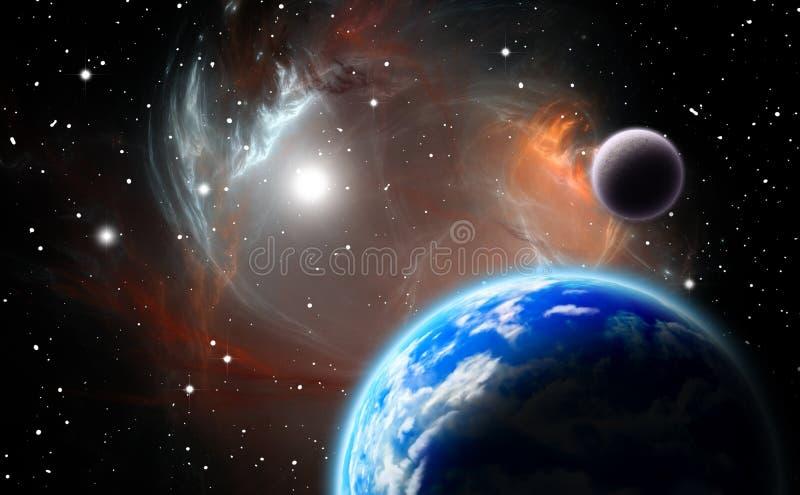 Alternative planetary system vector illustration