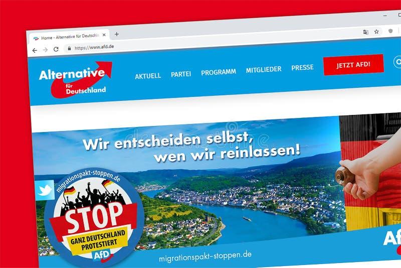 Alternative pour l'Allemand de l'Allemagne : ¼ alternatif r Deutschland, A de fà images stock