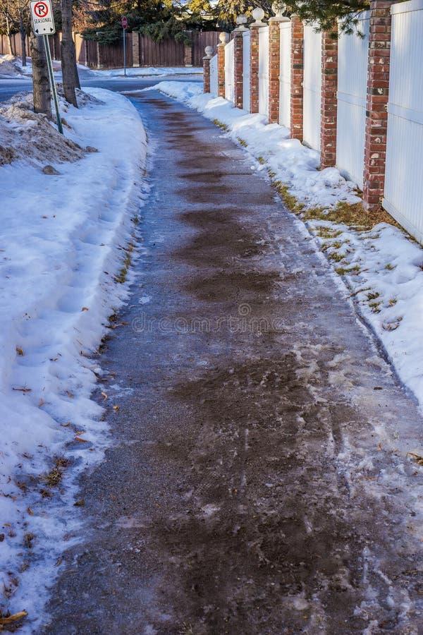 Alternative pour saler le melter de glace photos libres de droits