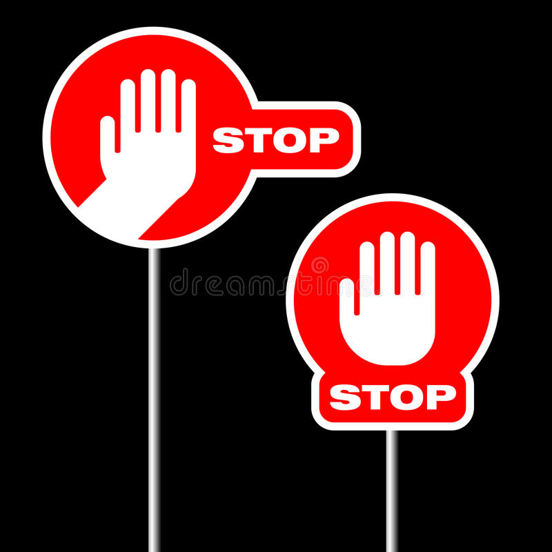 Alternative Road Stop Signs Royalty Free Stock Image