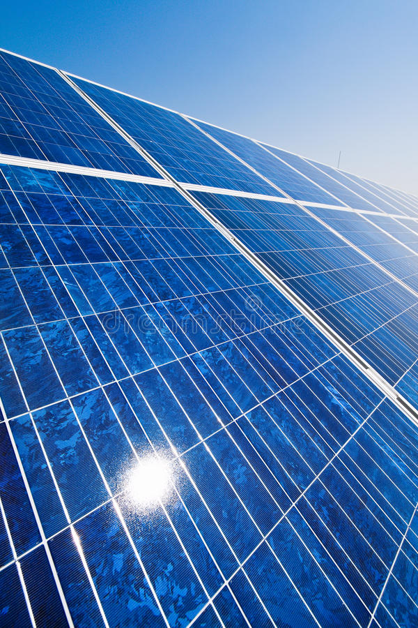 Alternative Solar Energy. Solar power plant. stock photography