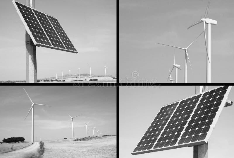Alternative solar and wind energy. The future royalty free stock photos