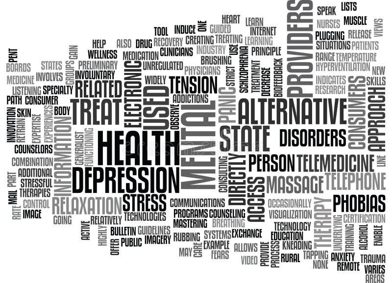 Alternative Therapien was warum und wie von ihm Wort sich bewölken vektor abbildung