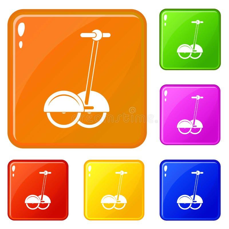 Alternative Transportfahrzeugikonen stellten Vektorfarbe ein vektor abbildung