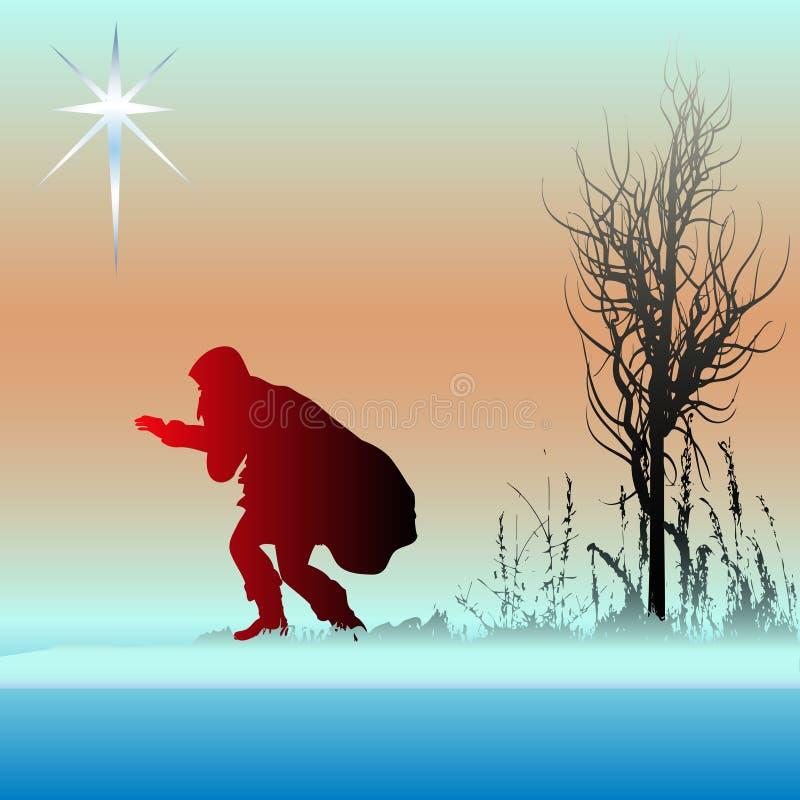 Alternative Weihnachtskarte lizenzfreie abbildung