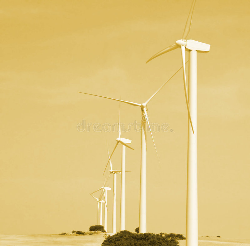 Alternative wind energy. The future royalty free stock images