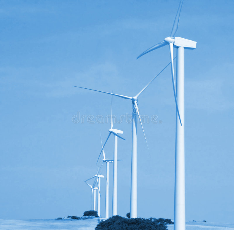 Alternative wind energy. The future stock photo