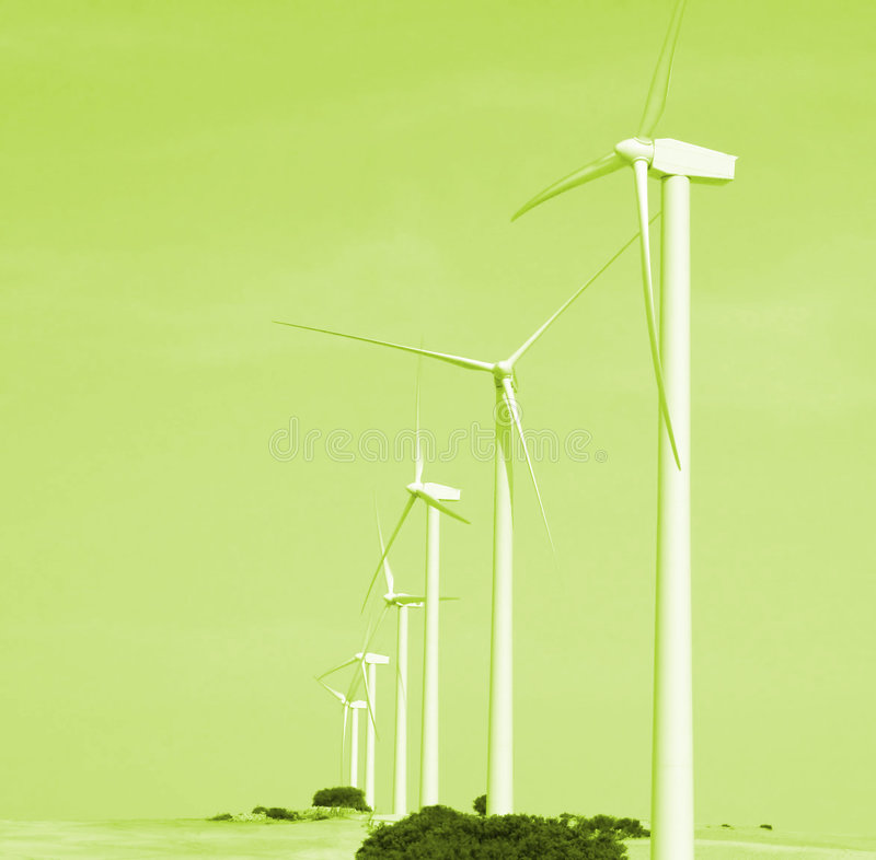 Alternative wind energy. The future royalty free stock photography