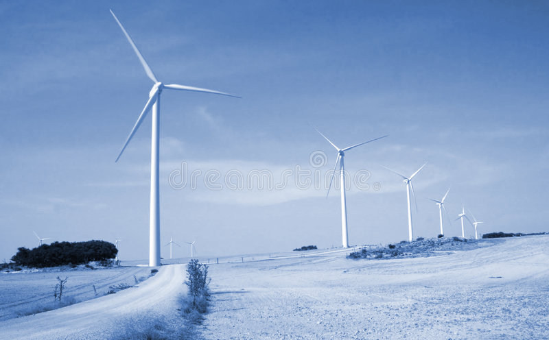 Alternative wind energy. Alternative solar and wind energy, the future stock image