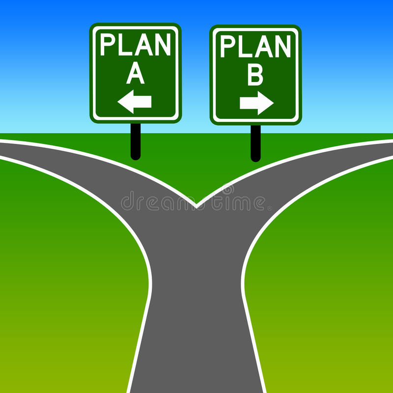 Alternativer Plan vektor abbildung