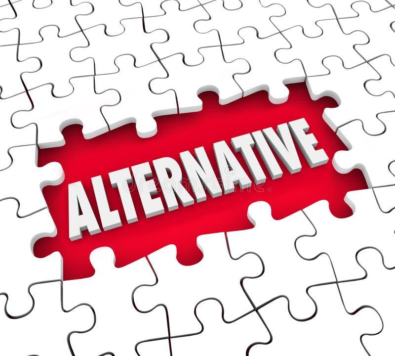 Alternativer Plan-unterschiedliches Wahl Alertnate-Ideen-Lösungs-Puzzlespiel vektor abbildung