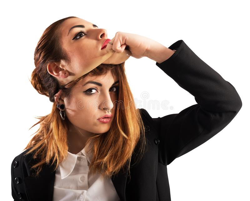 Alternatives Mädchen gegen gute Frau lizenzfreies stockbild
