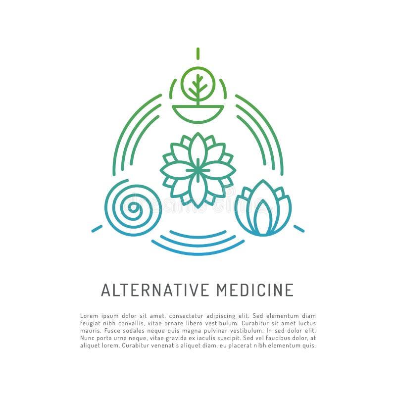 Alternativmedizinvektor lizenzfreie abbildung