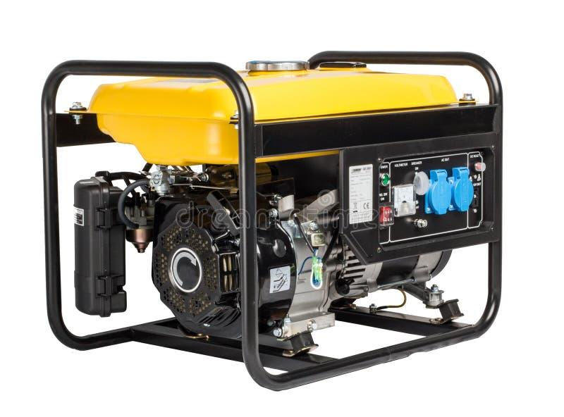 Alternatore elettrico del generatore di CA, isolato su bianco immagine stock