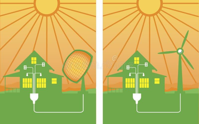 alternatywna energia royalty ilustracja