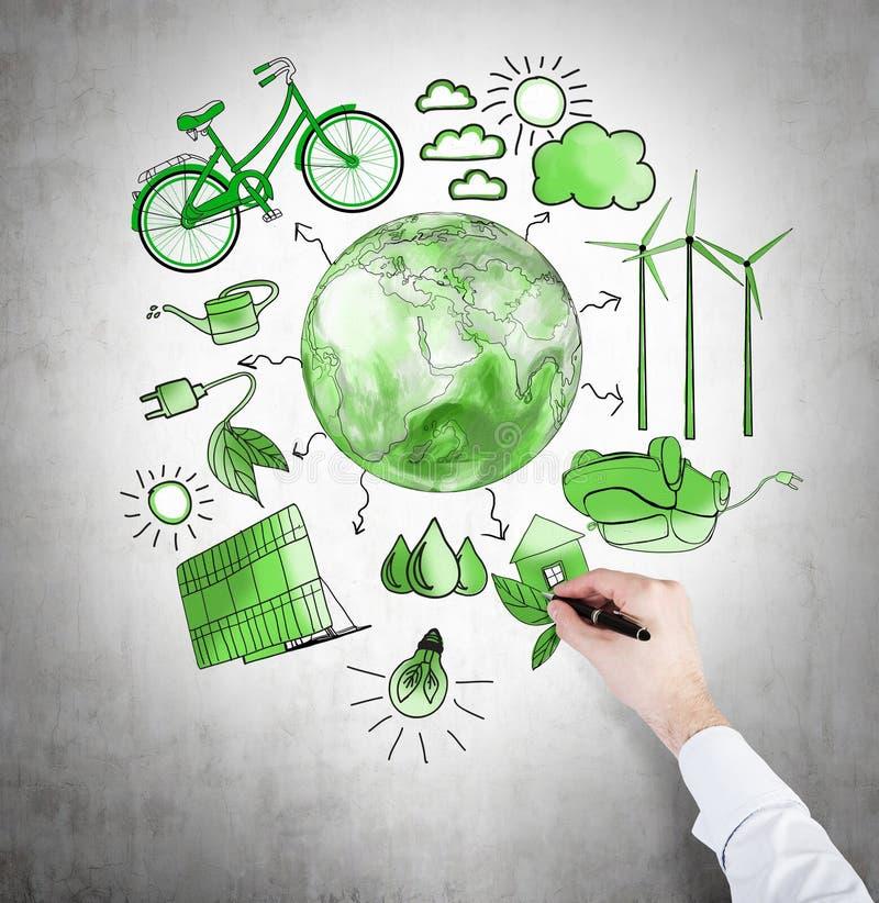 Alternatywna energia, czysty środowisko ilustracja wektor