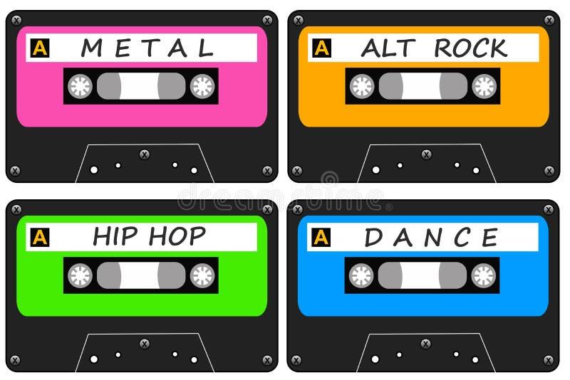 Alternatywna muzyka ilustracja wektor