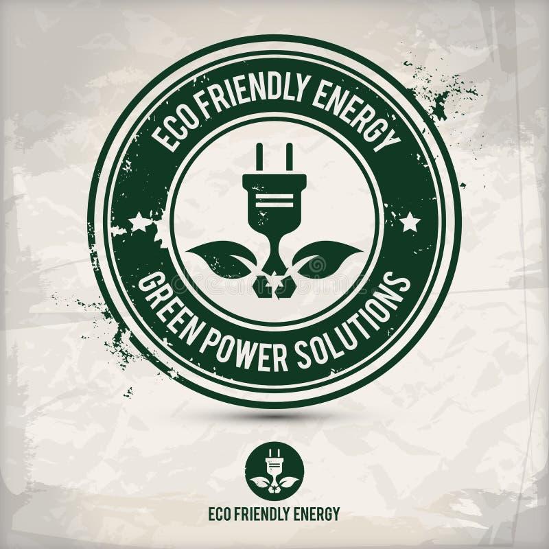 Alternatywnego eco energii życzliwy znaczek ilustracji