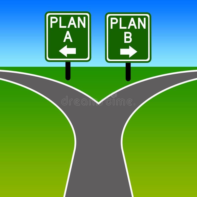 Alternatywny plan ilustracja wektor