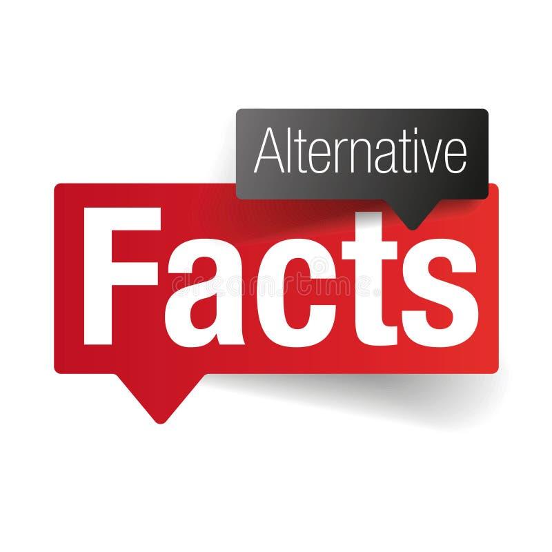 Alternatywnych fact mowy szyldowy bąbel royalty ilustracja