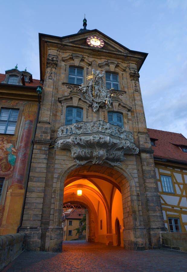 altes琥珀德国rathaus 库存照片