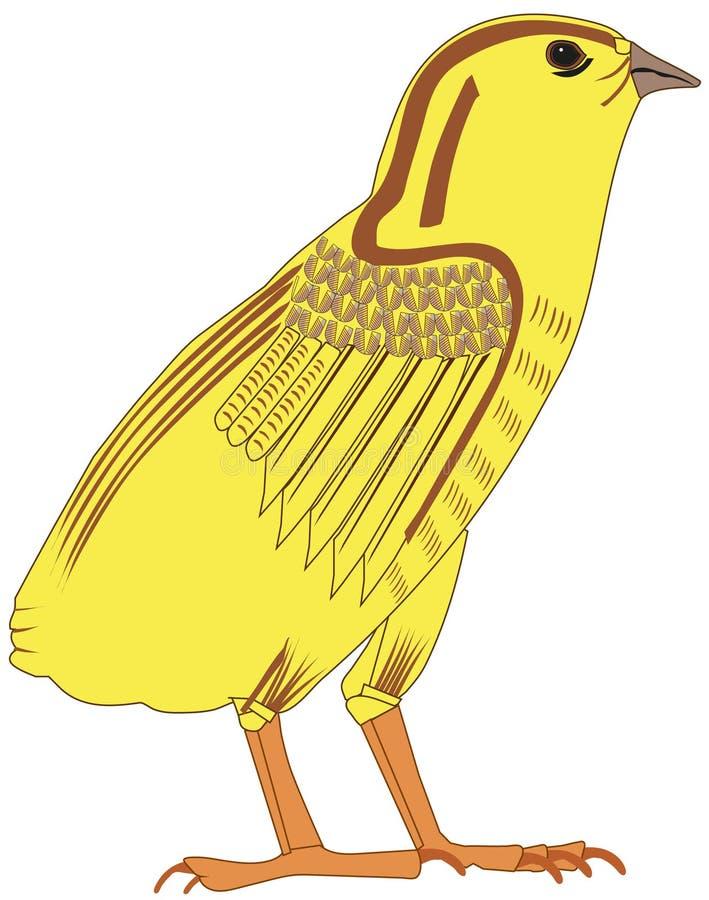 Altes ägyptisches Küken vektor abbildung
