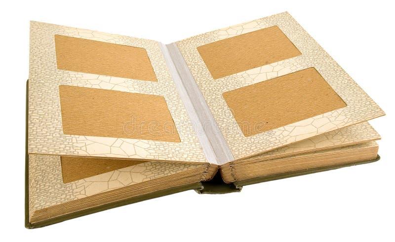 Altes Abbildungalbum. stockbild