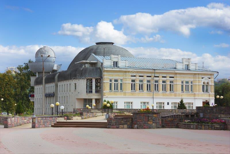 Altes aber populäres Planetarium in Nischni Nowgorod lizenzfreie stockfotos