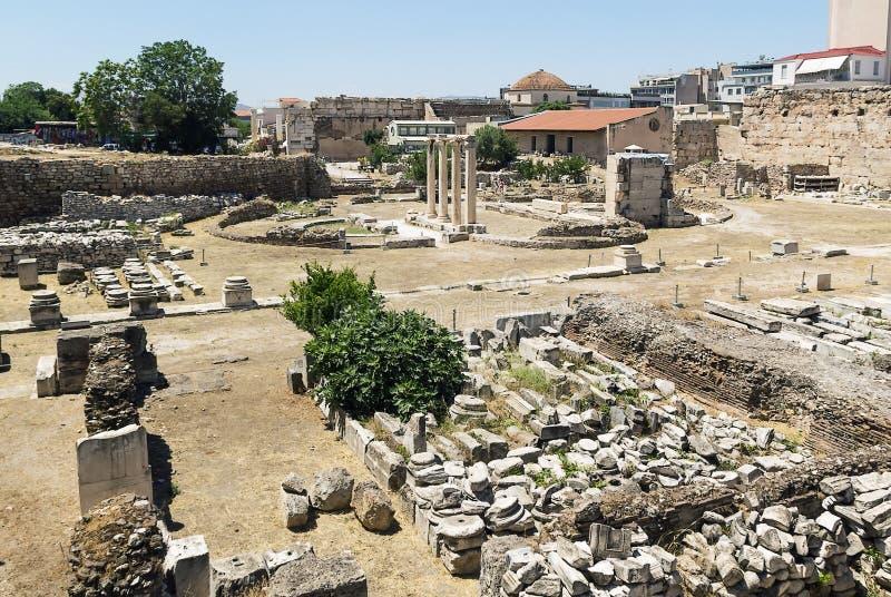 Altes Agora von Athen stockfotografie