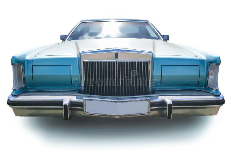 Altes amerikanisches Auto lokalisiert lizenzfreies stockfoto