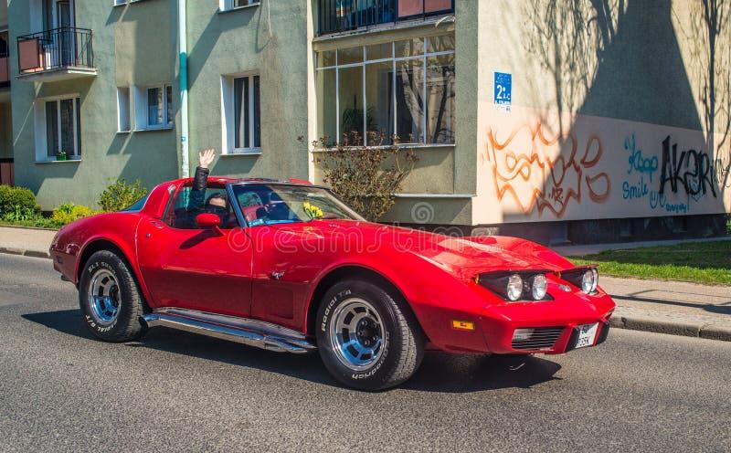 Altes amerikanisches Sport- Auto Korvette stockfotos