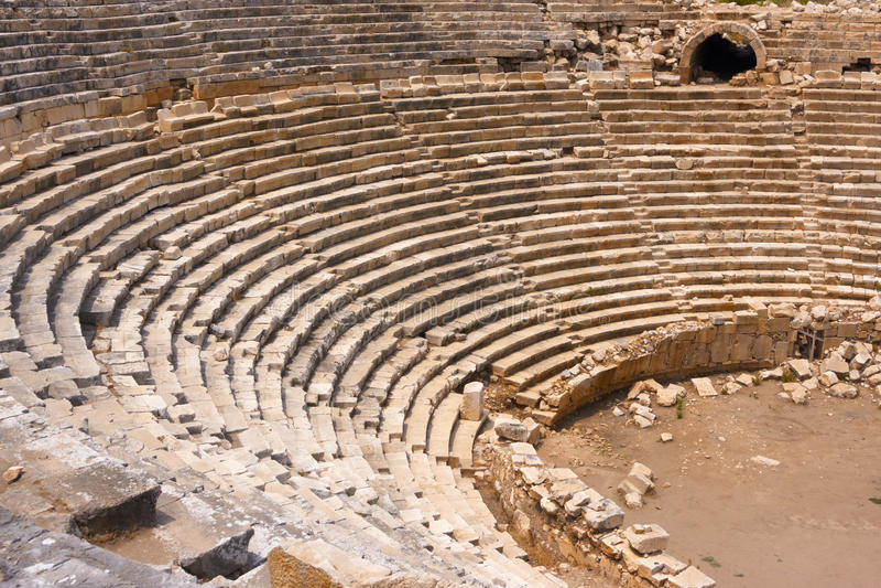 Altes Amphitheater lizenzfreie stockbilder
