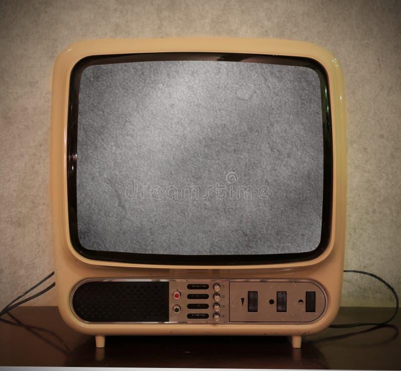 Altes antikes Fernsehen stockfoto