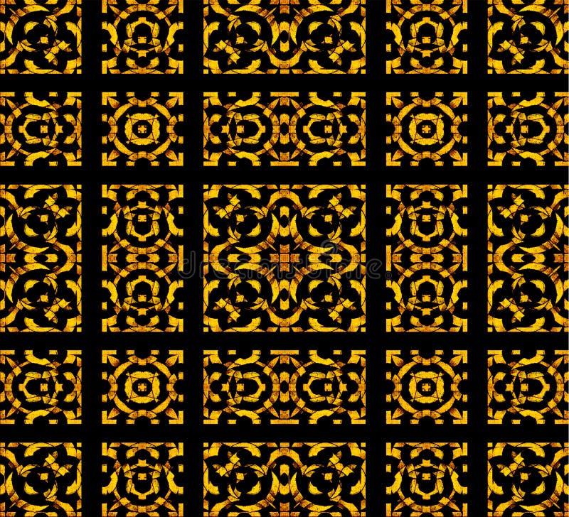 Altes Arabesken-Stein-Verzierungs-Muster stock abbildung